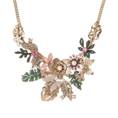 Collana fiori e farfalle Clorofilla