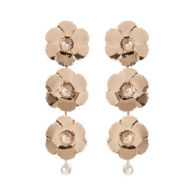 Orecchini fiori e perla Clorofilla