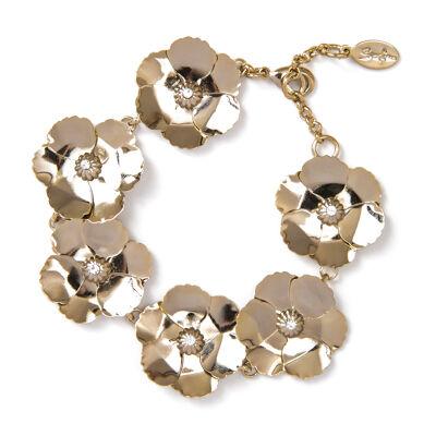 Bracciale fiori brillanti Clorofilla
