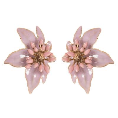Orecchini fiore luminoso Clorofilla
