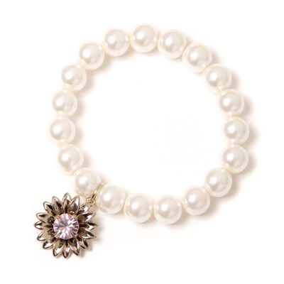Bracciale elastico di perle Clorofilla