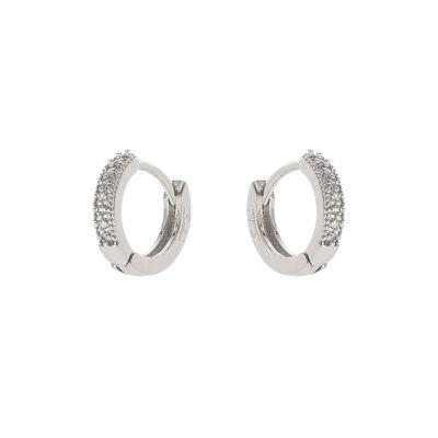 Piccoli orecchini veretta di cristalli Malibù