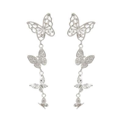 Orecchini cascata di farfalline Cielo