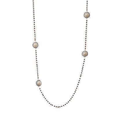 Collana lunga con cristalli e perle Festival