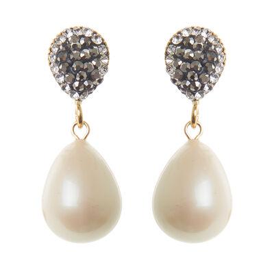 Orecchini con perla a goccia Festival