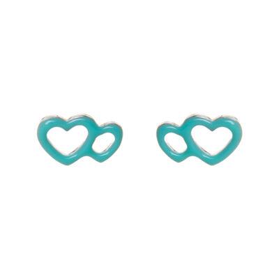Orecchini doppio cuore Procida
