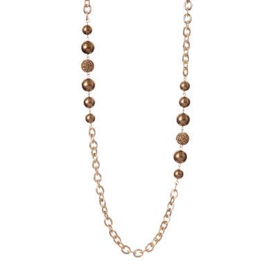 Collana lunga a catena e perle Roxana