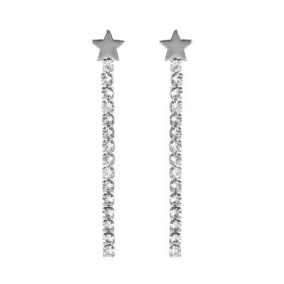 Orecchini a stella e filo di cristalli Stromboli