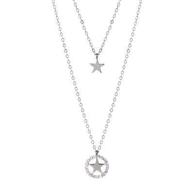 Collana doppio filo con stelle pendenti Stromboli