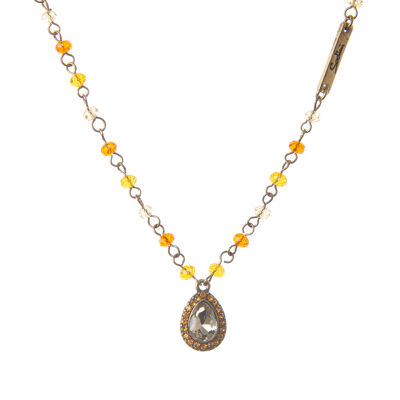 Catenina con goccia di cristalli Starry