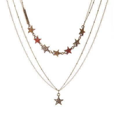 Collana multifilo con stelline Starry