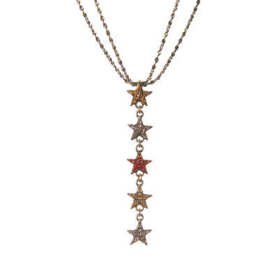 Collana doppio filo con stelle di cristalli Starry