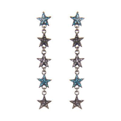 Orecchini cascata di stelle Starry