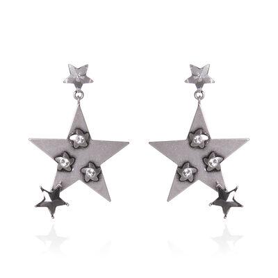Orecchini con stella metallica Stardust