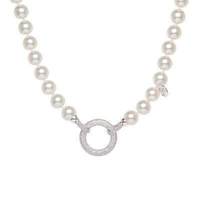 Girocollo con grandi perle e anello prezioso Pearl