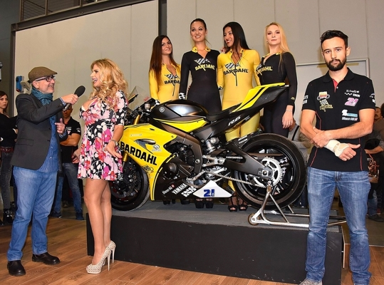 Cartelle stampa Bardahl all'EICMA 2017