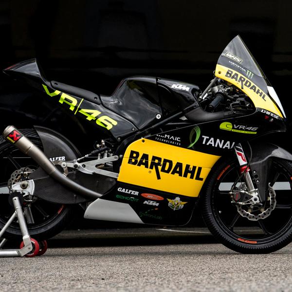 Moto Il Team Bardahl VR46 Riders Academy pronto a debut