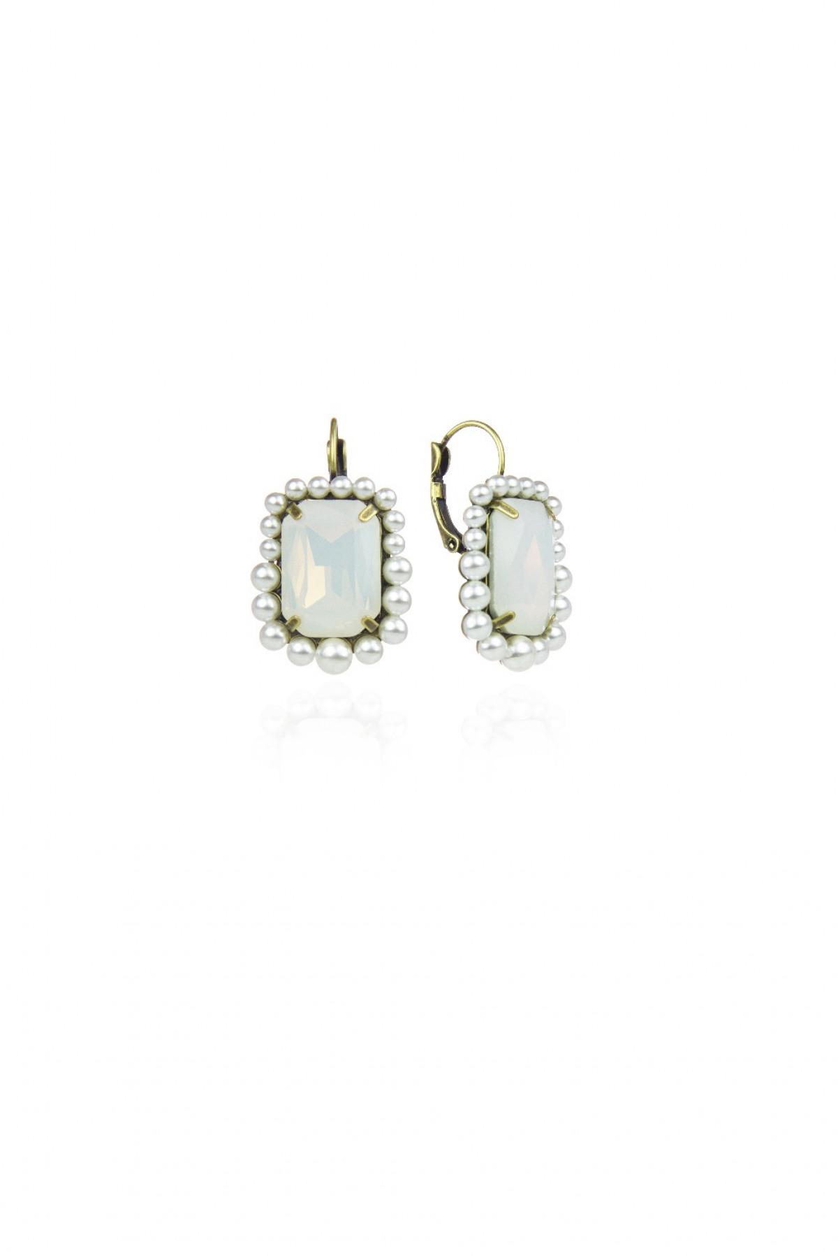 d9211453c80017 Orecchini a monachella con cristallo Glam Rock - Sodini   Creatività ...