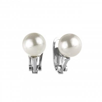 Orecchini a clip con perla lucente Pearl