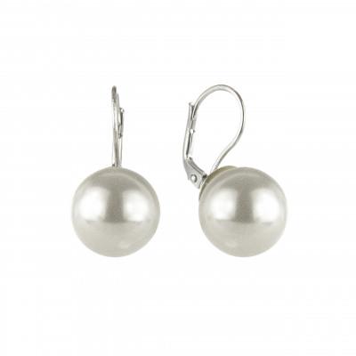 Orecchini a monachella con grande perla Pearl