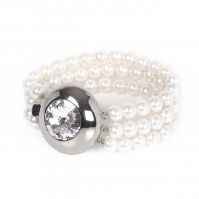 Bracciale a tre fili di perle Pearl