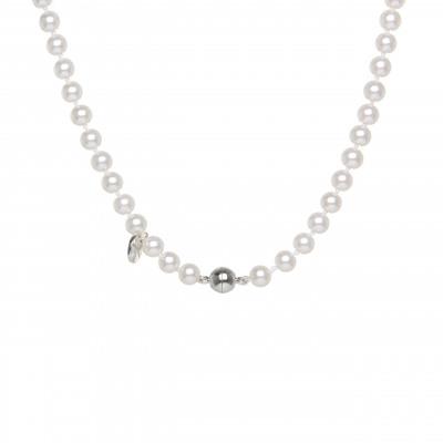 Collana di perle e sfera splendente Pearl