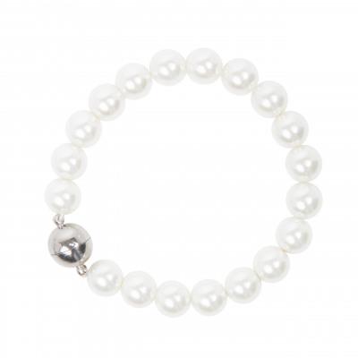 Bracciale di perle e sfera splendente Pearl