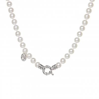 Girocollo di perle e anello splendente Pearl
