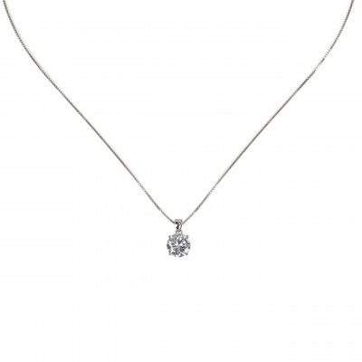 Collana con zircone pendente Pearl