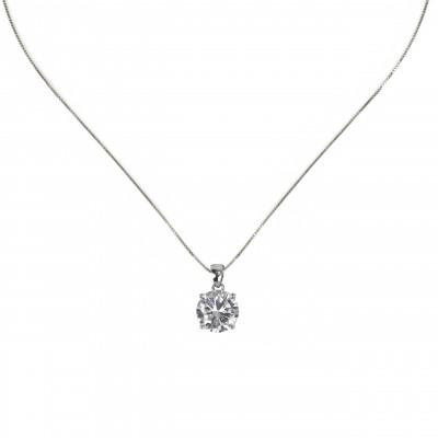 Collana con grande zircone Pearl