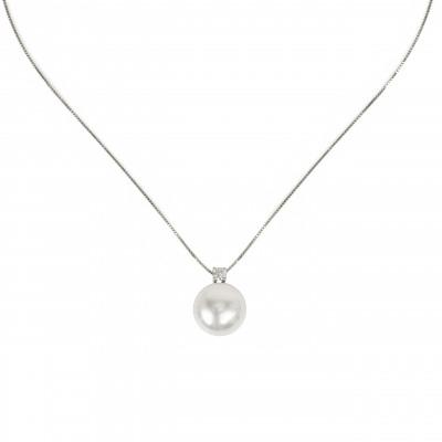 Girocollo perla e zircone Pearl