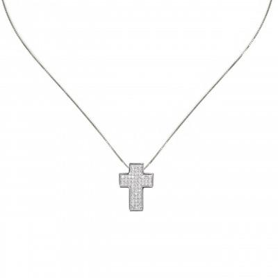 Collana con pendente a croce Pearl