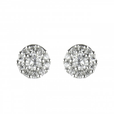 Piccoli orecchini con zirconi Pearl