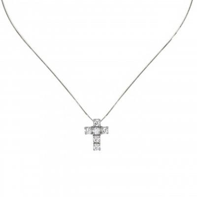 Girocollo con pendente a croce Pearl