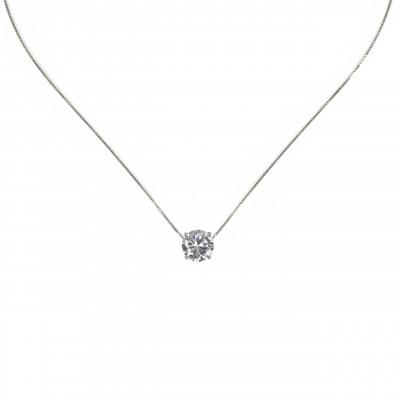 Collana con grande zircone pendente Pearl