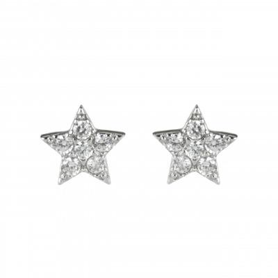 Orecchini a stella con zirconi Pearl