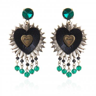 Orecchini chandelier con cuore Love