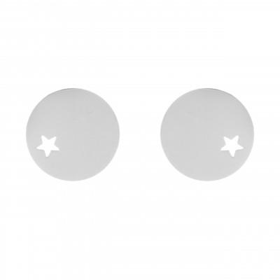 Orecchini a bottone e stellina Oscar