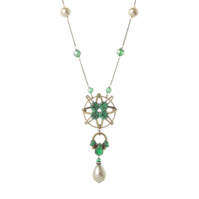 Collana splendore di cristalli e perle Moonlight