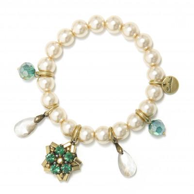 Bracciale elastico di perle Moonlight