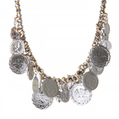 Collana con boules e monetine Money