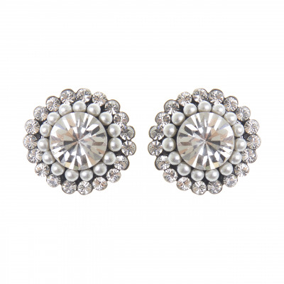 Orecchini con cristalli e perle Vintage