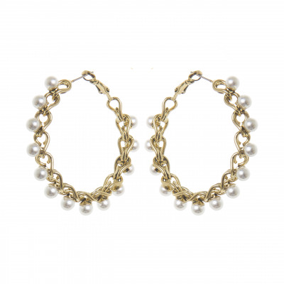 Orecchini cerchio e perle Vintage