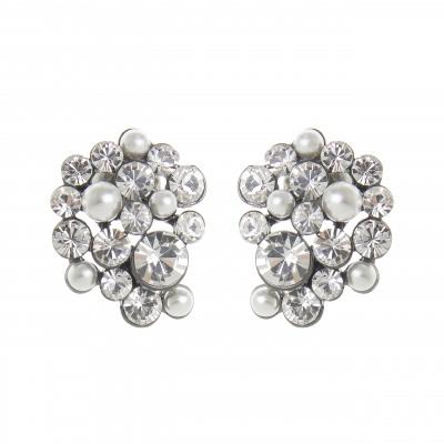 Orecchini perle e cristalli Vintage