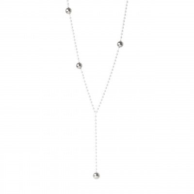 Collana a Y con boules metalliche Hollywood