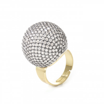 Anello sfera di brillanti Red Carpet