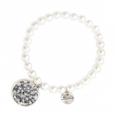 Bracciale elastico con perle Starlight