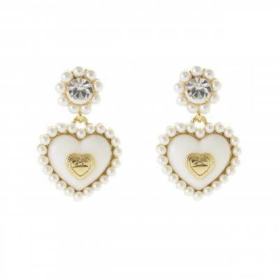 Orecchini a cuore con perle Favignana