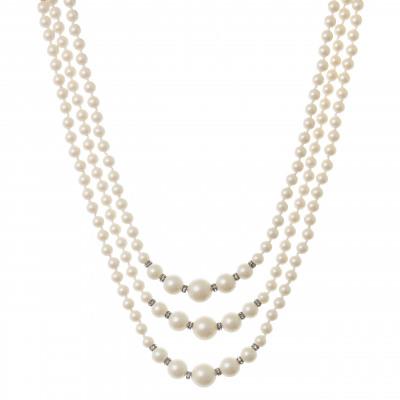 Collana di perle multifilo Festival