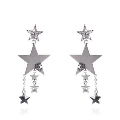 Orecchini con stelle a cascata Stardust